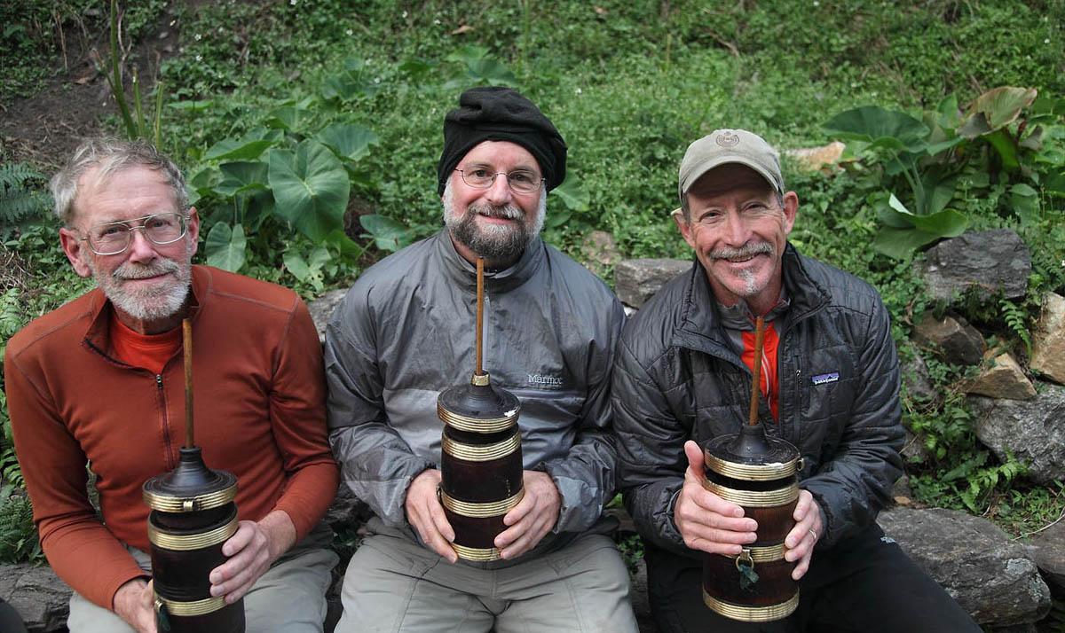 Enjoying Tongba in Kanchenjunga