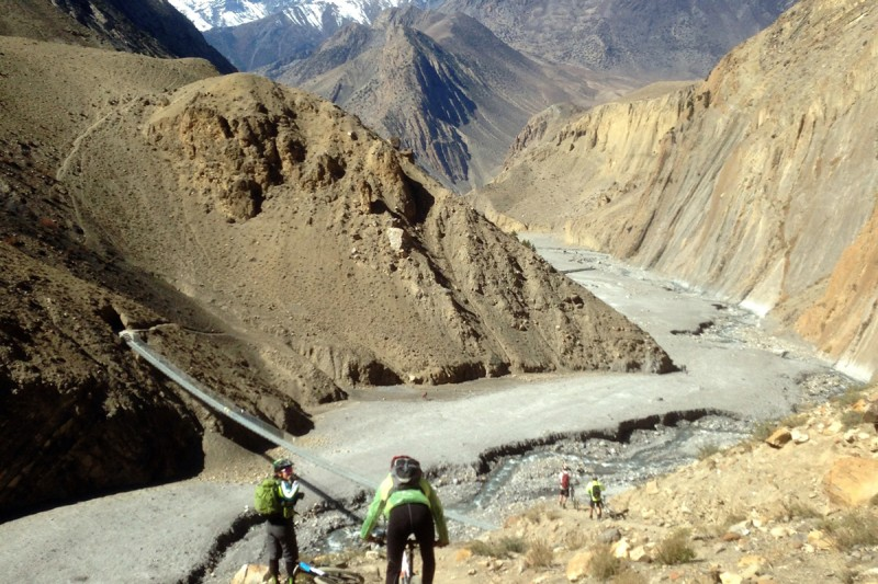 Riding near Muktinath