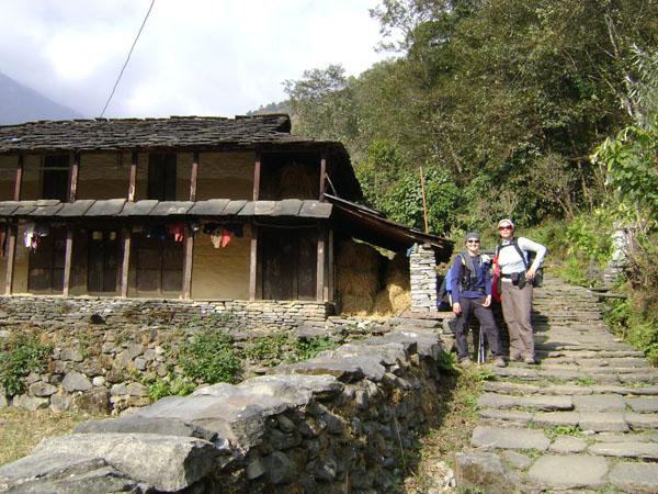 Trekkers at Kimrung Khola