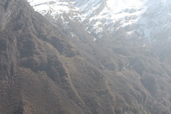 rachen gompa below the mountains