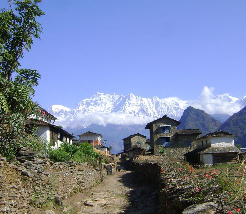 Beautiful day in Dhaulagiri, Nepal