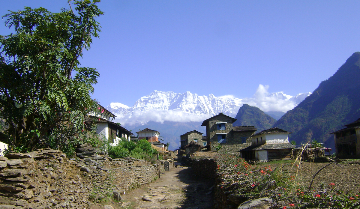 Beautiful day in Dhaulagiri, Nepal