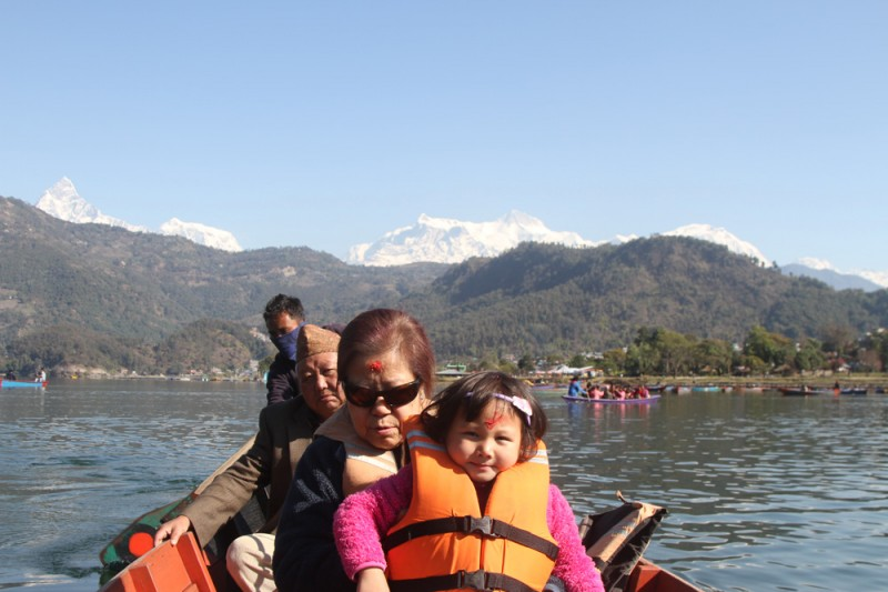 Boating on Fewa Lake