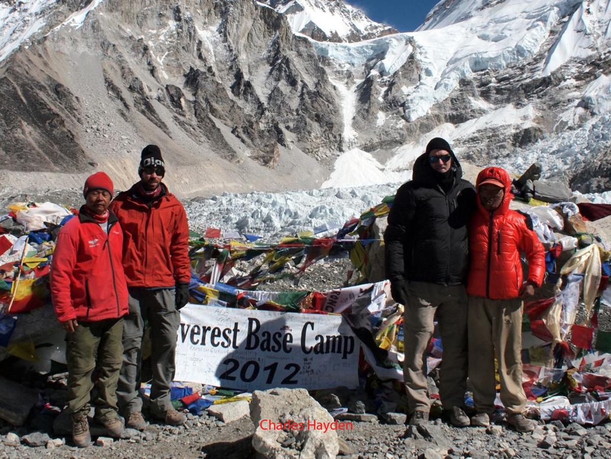 Everest Base Camp 2012 sign