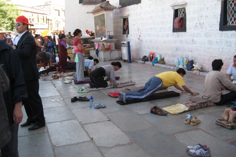 Pilgrims at Barkhor, Tibet