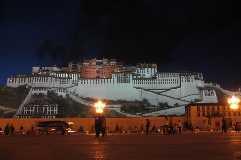 Potala at night