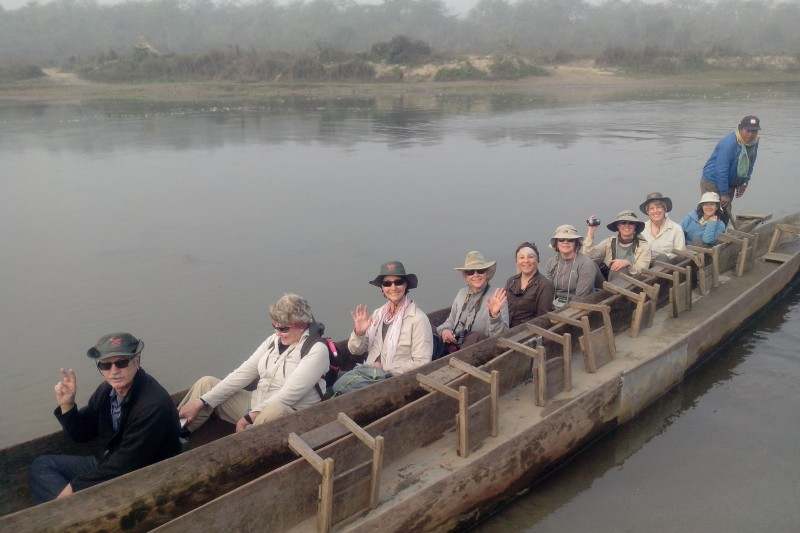 canoe in chitwan