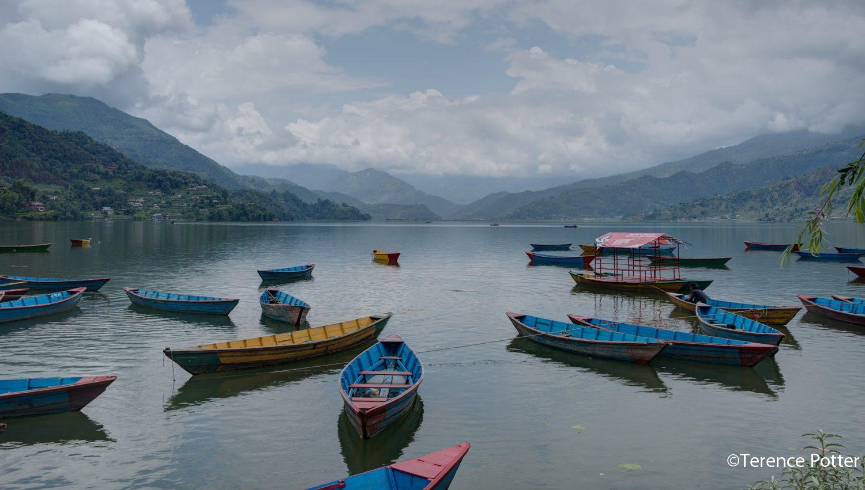 boats, Phewa Lake, Pokhara