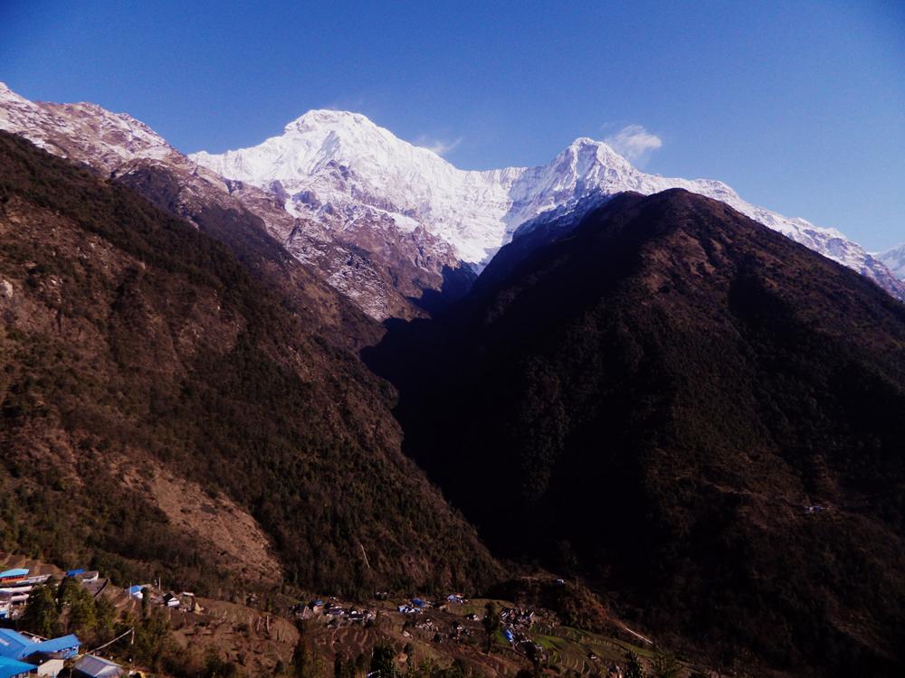 Annapurna South from Chomrong