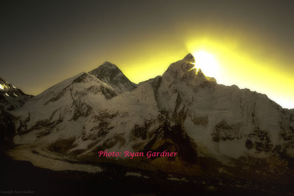 Sunrise over Mt. Everest from Kalapathar