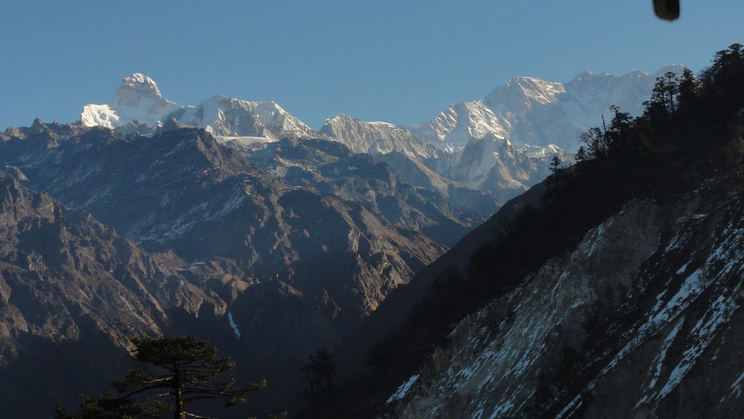 View from Lamite Bhanjyang, Kanchenjunga Base Camp Trek