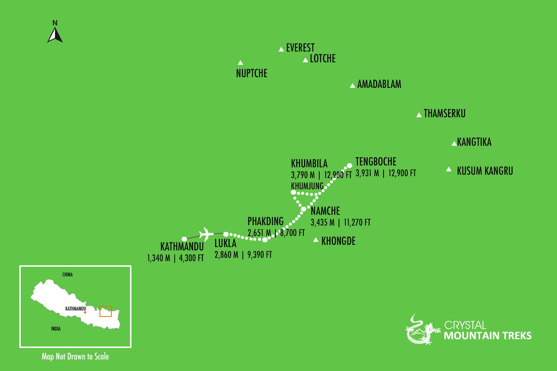tengboche map