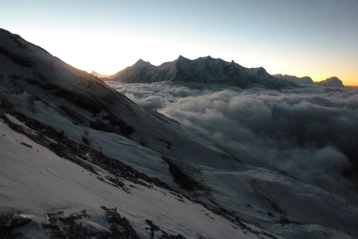 Annapurna as the sun hits