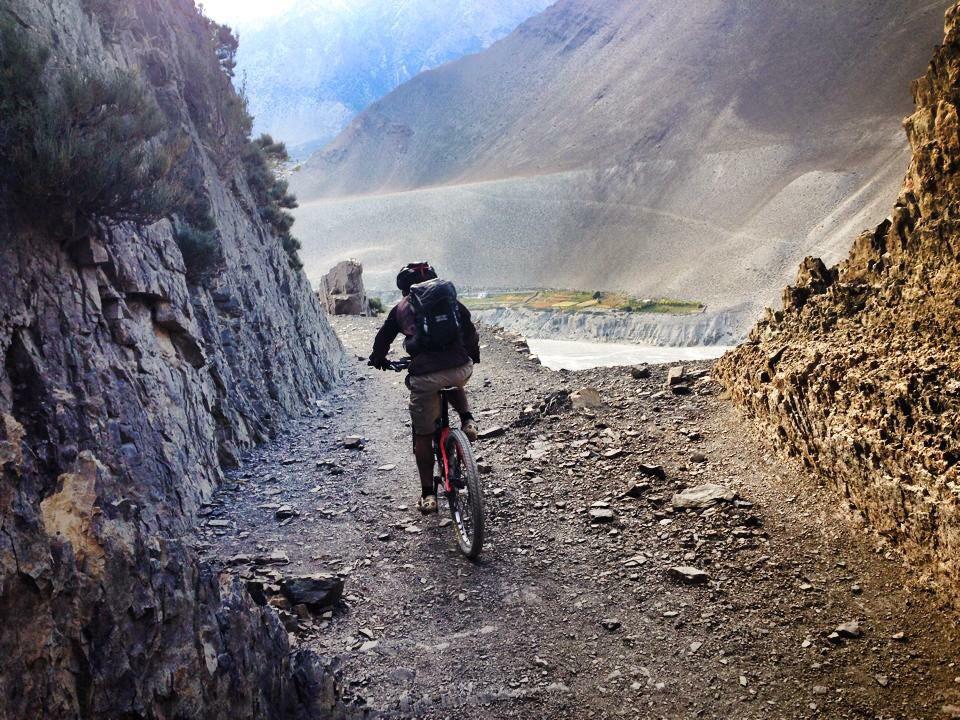 Arriving in Tukche, Nepal