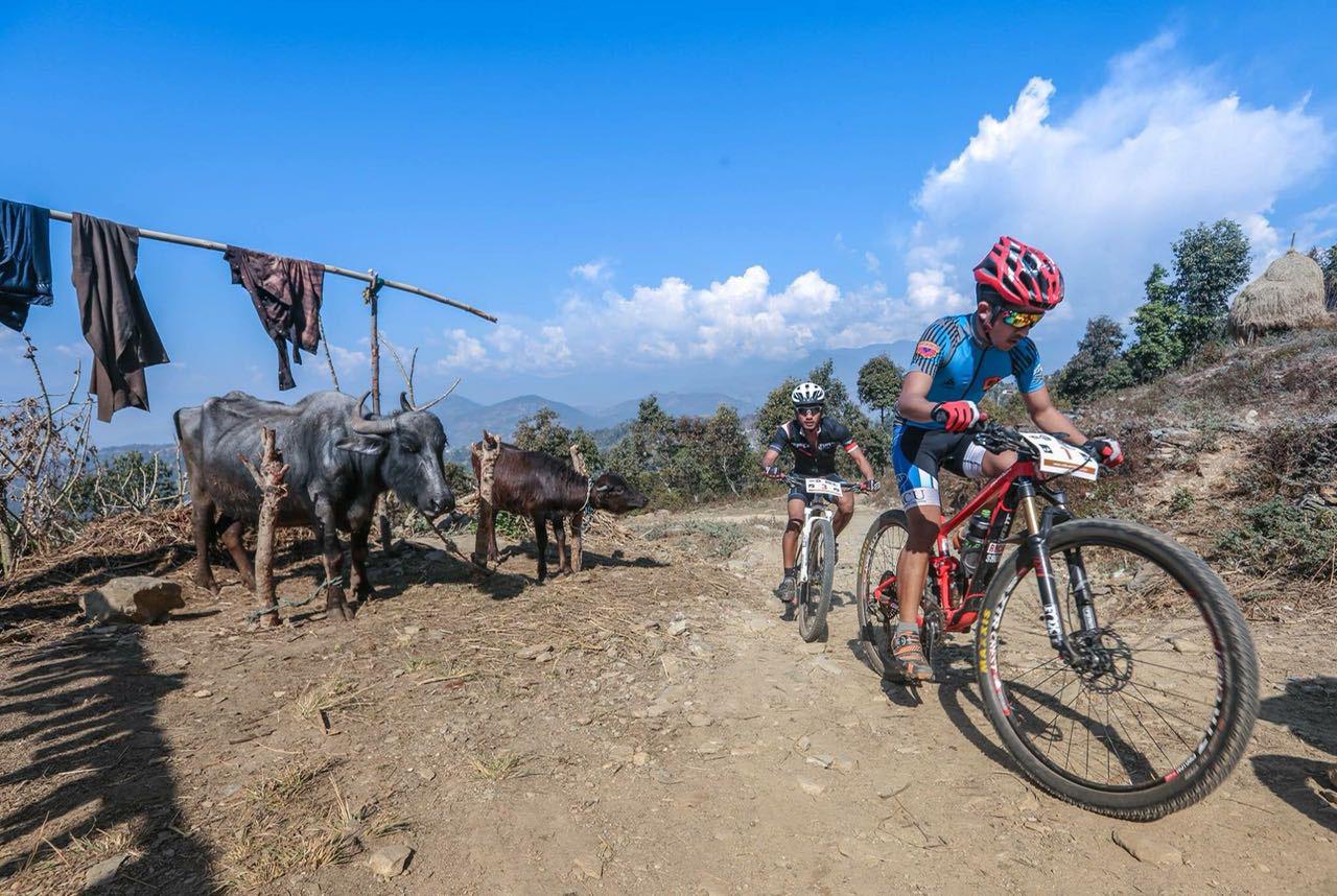 Biking around Kathmandu, Nepal