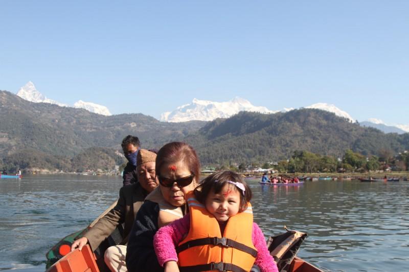 Boating on Fewa Lake