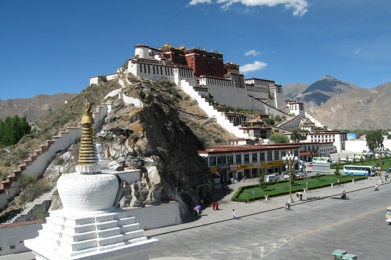 Potala during the day, Tibet