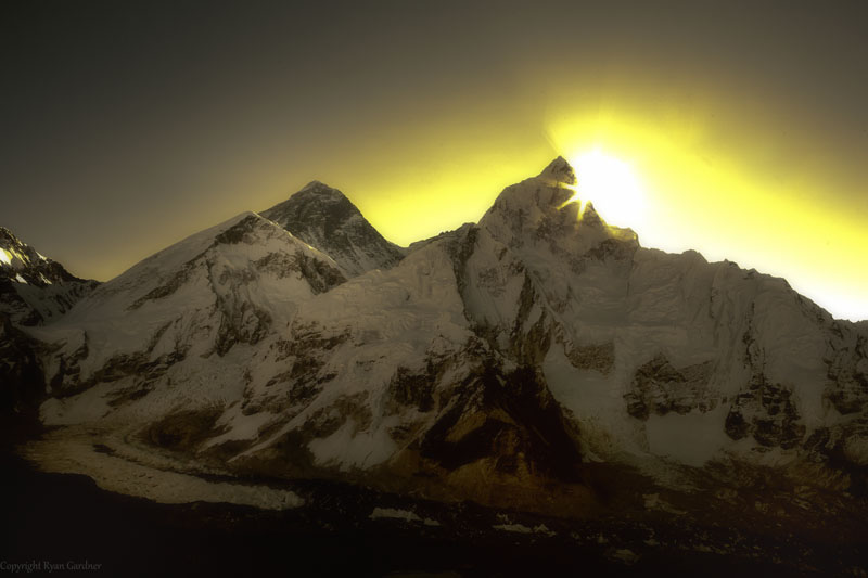 Sunrise over Everest from Kalapathar, Everest Base Camp Trek