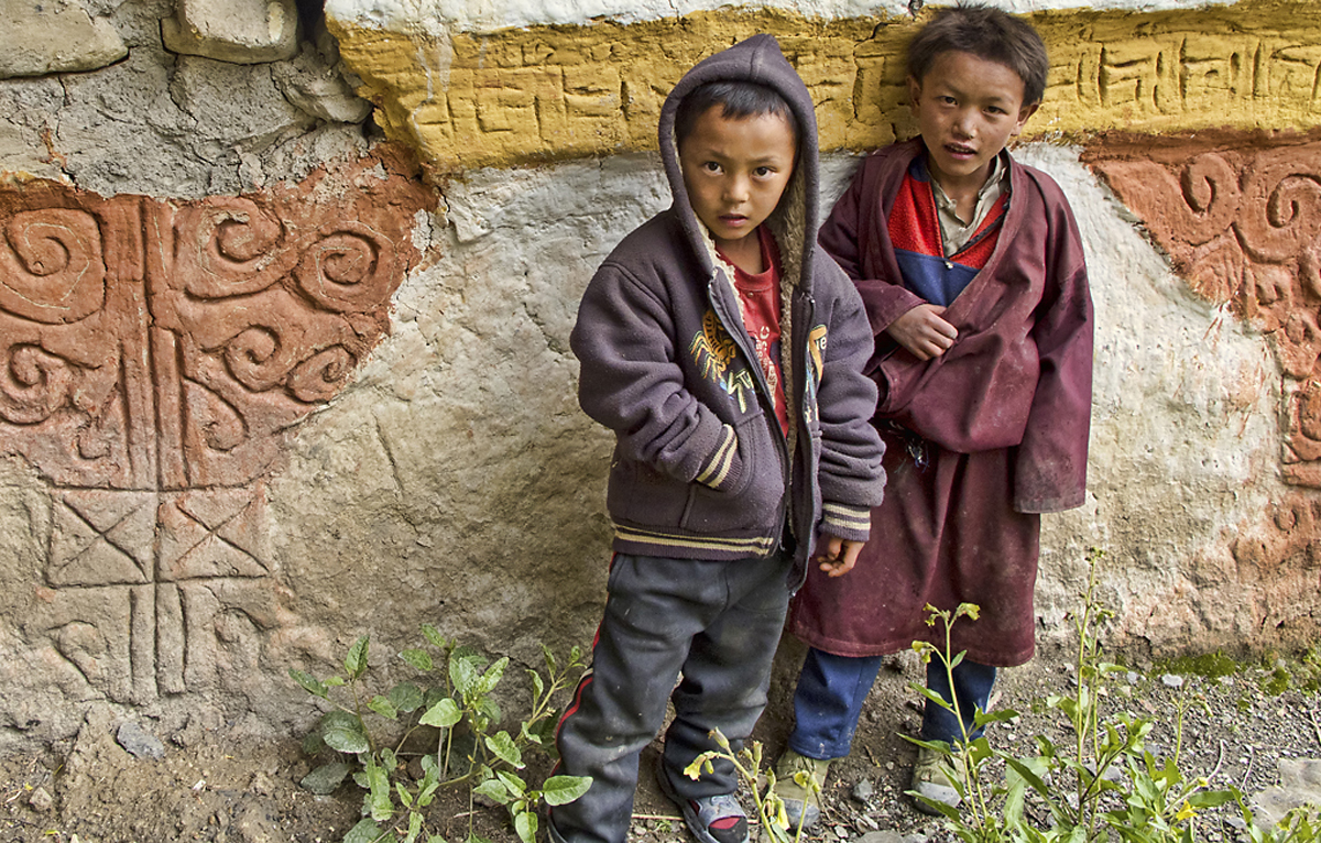 Young Boys Of Namdo Dolpo, Nepal