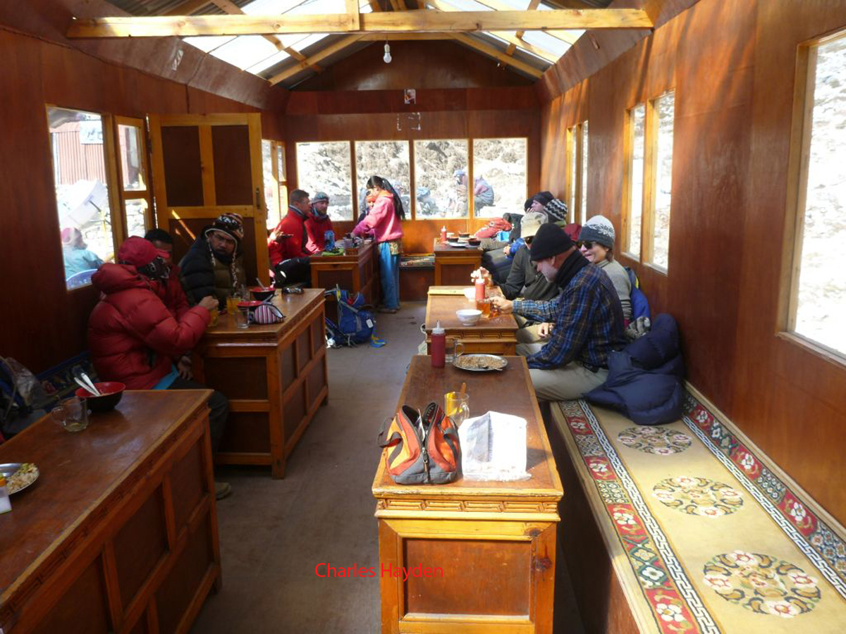 lodge dining room, Everest Base Camp Trek