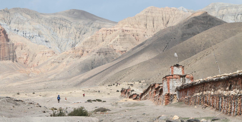 Mani wall near Ghemi, Upper Mustang Trek