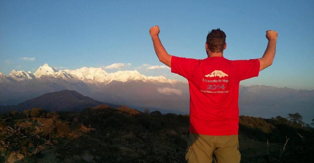 Chris and 3 summits at Kanchenjunga