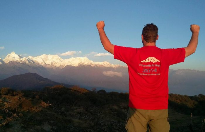 Chris and 3 summits at Kanchenjunga