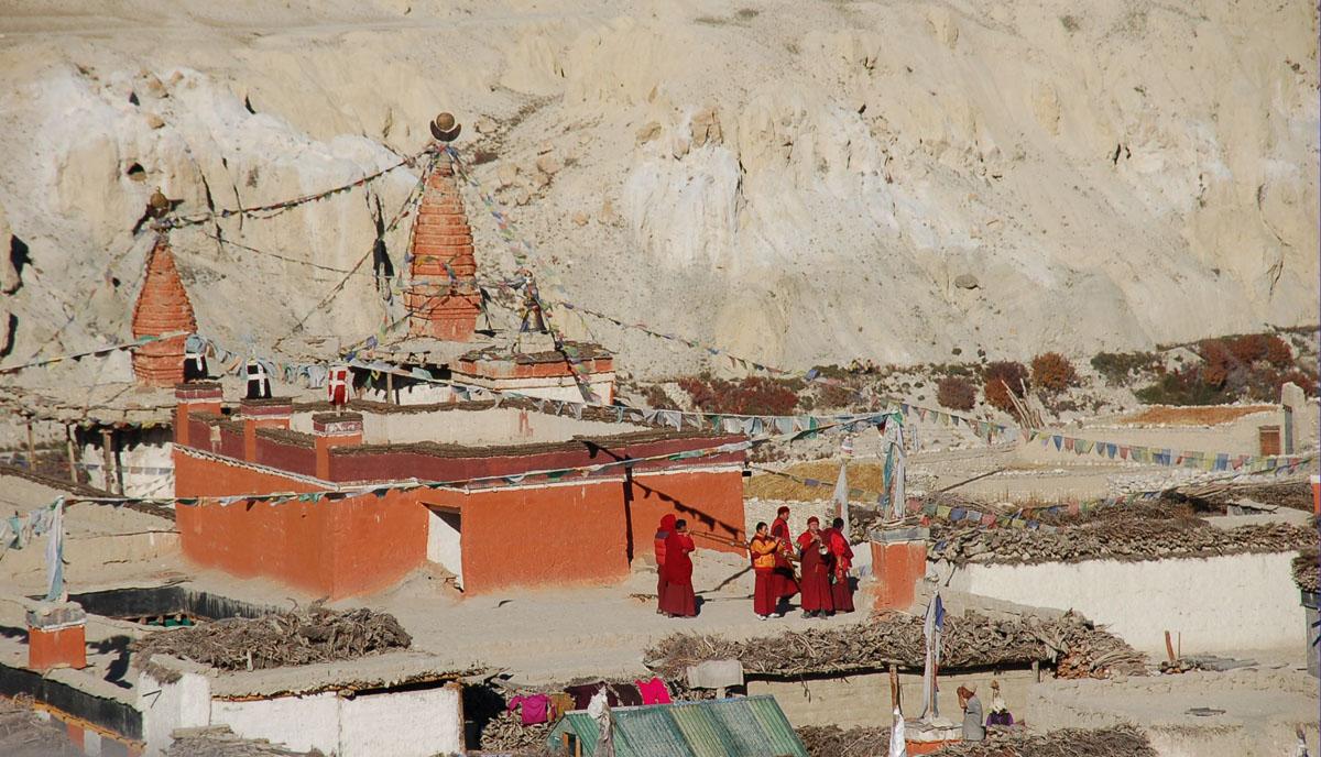 Mustang monks, Upper Mustang Trek