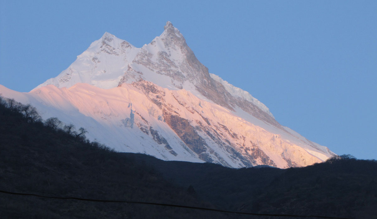 Sunrise on Manaslu, Manaslu Circuit Trek