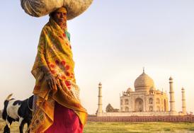 Woman near Taj Mahal, Agra