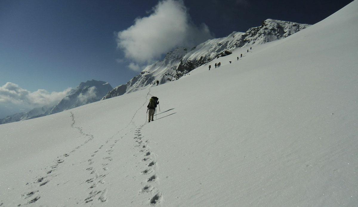 near the pass, Manaslu Circuit Trek