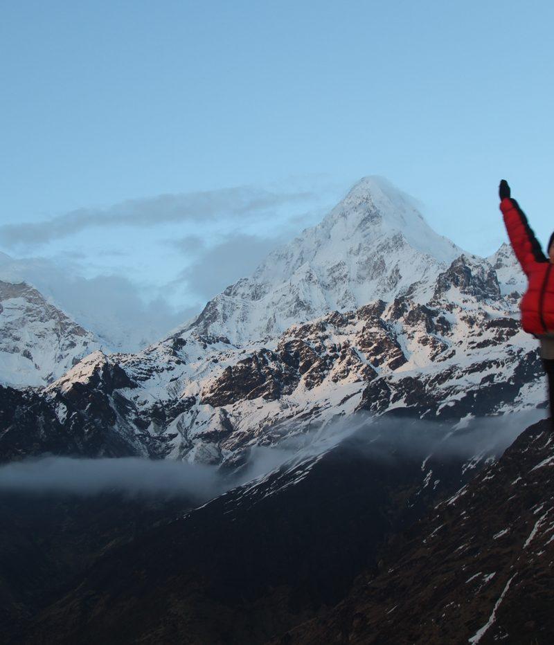 Anna at Khopra ridge