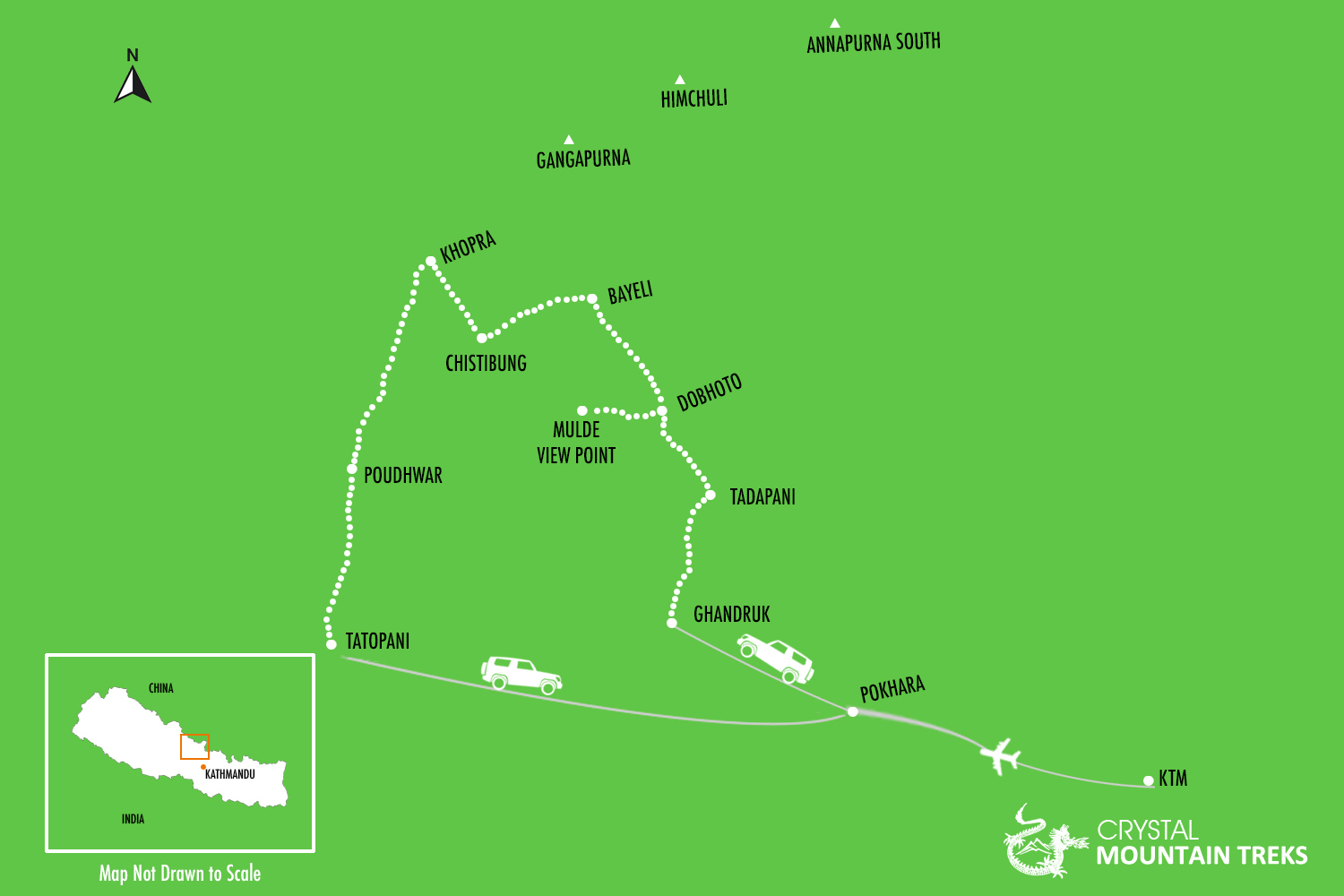 Map of Khopra Trek