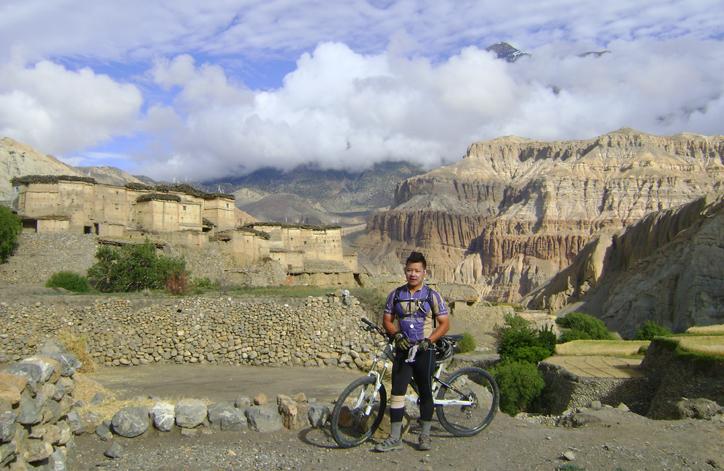 Riding near Muktinath, Mustang