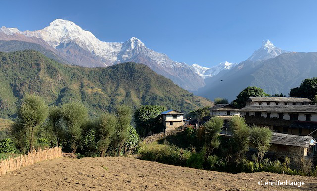 View above Ghandruk