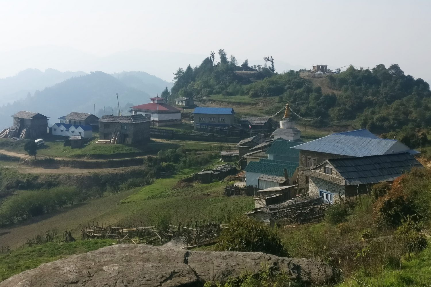 Jhyapre, the starting point of the Pikey Trek