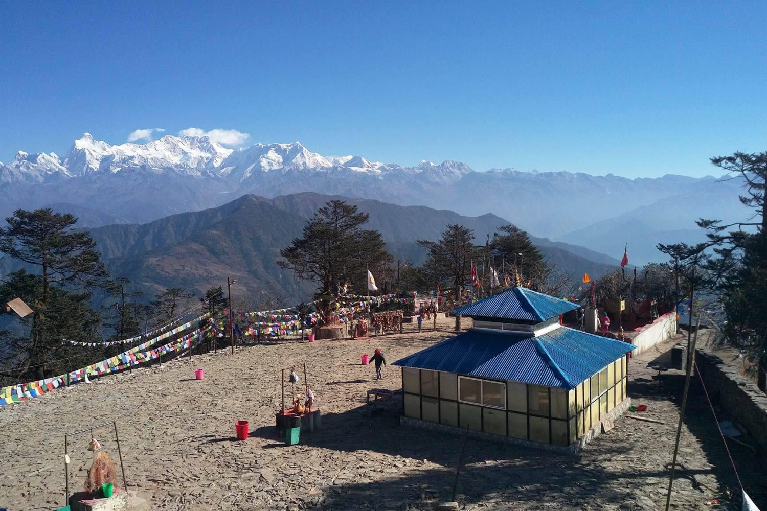 Pathibara temple with Kanchenjunga in the background