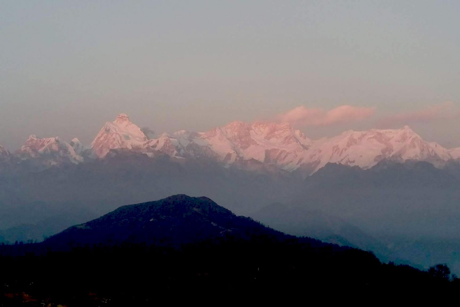 Sunset on Kanchenjunga