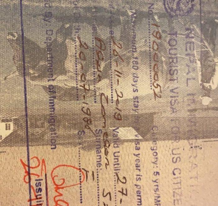 5 year Nepal visa